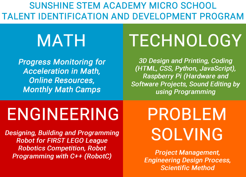 Sunshine Talent Identification Development Program - Technology Engineering Math Problem Solving