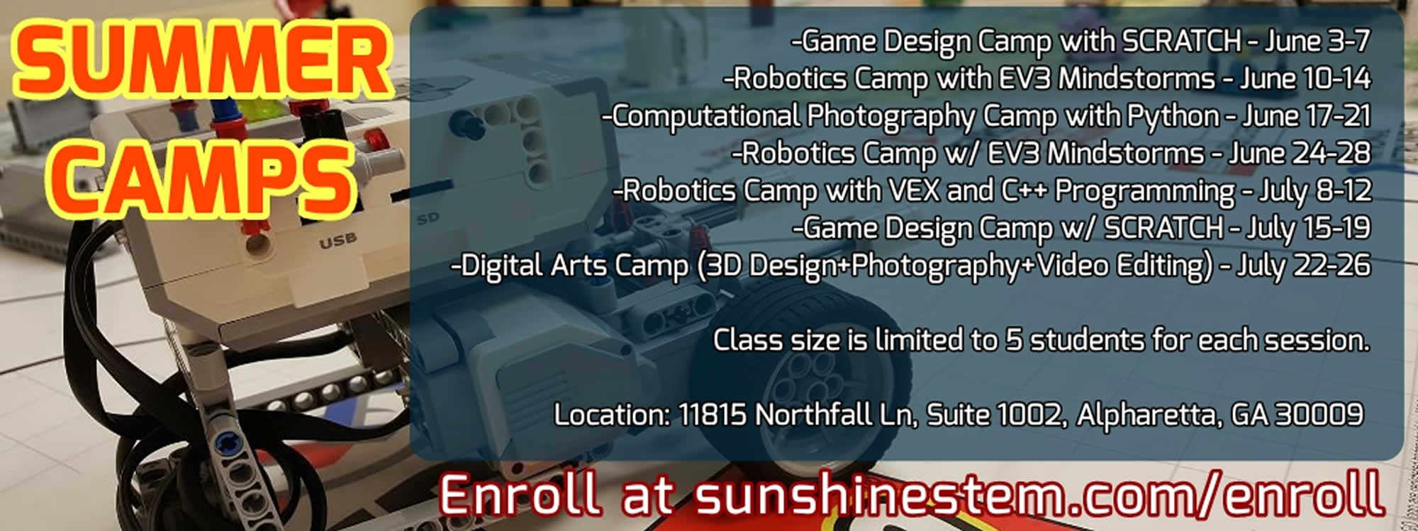 Sunshine STEM Academy Summer Camps 2019