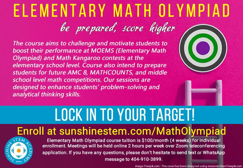 Sunshine STEM Academy - Math Olympiad Prep Course